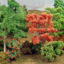 Model Scatter, Flock, Trees and Bushes
